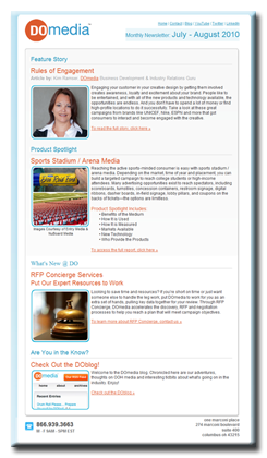 DOmedia Monthly Newsletters